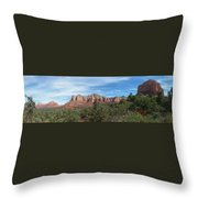 Red Rock Views Throw Pillow