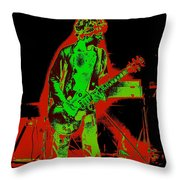Red Rocker In Spokane In 1977 With Space Friends Throw Pillow