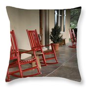 Red Rockers 21159 Throw Pillow