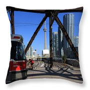 Red Rocket 10 Throw Pillow