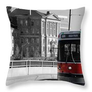 Red Rocket 14c Throw Pillow