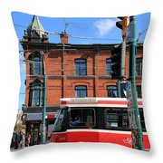 Red Rocket 15 Throw Pillow