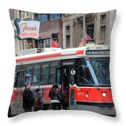 Red Rocket 3 Throw Pillow