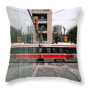 Red Rocket 37 Throw Pillow