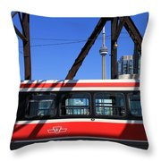 Red Rocket 8 Throw Pillow