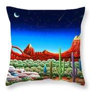 Red Rocks 5 Throw Pillow