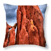 Red Rocks Against Blue Skies Throw Pillow