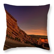 Red Rocks Amphitheatre At Night Throw Pillow