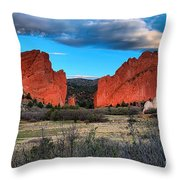 Red Rocks At Sunrise Throw Pillow