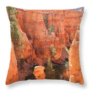 Red Rocks - Bryce Canyon Throw Pillow