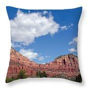 Red Rocks In Sedona Arizona Throw Pillow