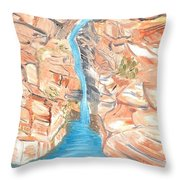 Red Rocks Of Water Throw Pillow
