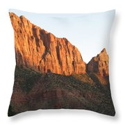 Red Rocks Of Zion Park Throw Pillow