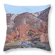 Red Rocks Panorama 1 Throw Pillow