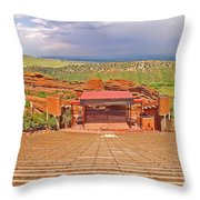 Red Rocks Park Amphitheater - Centered View Throw Pillow