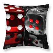 Red Rollers Throw Pillow