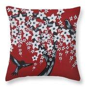 Red Romance Throw Pillow