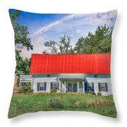 Red Roof Charm Throw Pillow