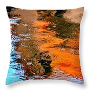 Red Roof Tile Reflection 29412 Throw Pillow