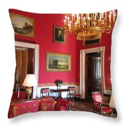 Red Room White House Throw Pillow
