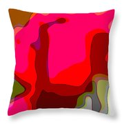 Red Rose Abstract Throw Pillow