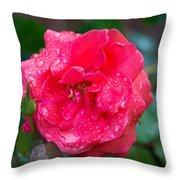 Savannah Ga Red Rose After A Rain Throw Pillow
