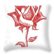 Red Rose Art 1 Throw Pillow