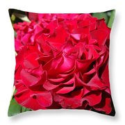 Red Rose Art Prints Big Roses Floral Throw Pillow