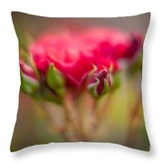Red Rose Flourish Throw Pillow