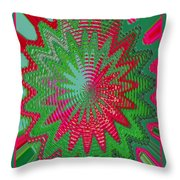 Red Rose Gone Awry Throw Pillow