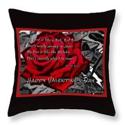Red Rose Valentine Throw Pillow