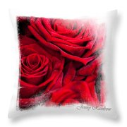 Red Roses. Elegant Knickknacks Throw Pillow