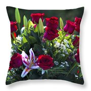 Red Roses Say I Love You Throw Pillow