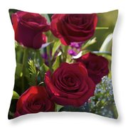 Red Roses The Language Of Love Throw Pillow