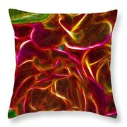 Red Roses With Soft Glow Throw Pillow