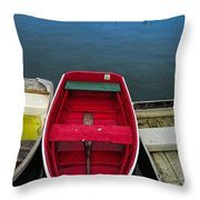 Red Rowboat Throw Pillow