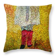 Red Rubber Boots Throw Pillow