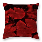 Red Ruby Tuesday Throw Pillow