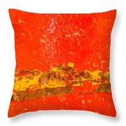 Red Rusty Backgound Throw Pillow