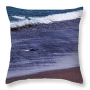 Red Sand Beach Abstract Throw Pillow