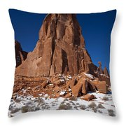Red Sandstone Arches National Park Utah Throw Pillow