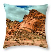 Red Sandstone Throw Pillow