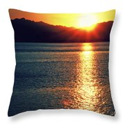 Red Sea Gold Throw Pillow