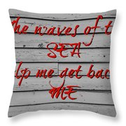 Red Sea Throw Pillow