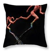 Red Shift A Science Sculpture By Adam Long Throw Pillow by Adam Long