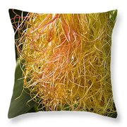 Red Silk And Droplets Throw Pillow