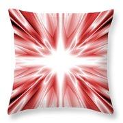Red Silk Star Throw Pillow