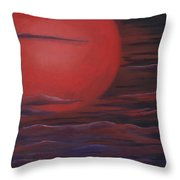 Red Sky A Night Throw Pillow