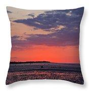 Red Sky At Sword Beach Throw Pillow