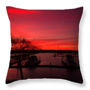 Red Sky In The Morning Two Throw Pillow